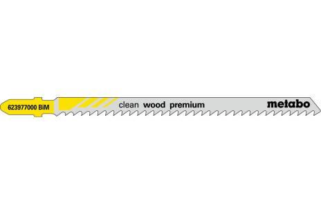 """5 brzeszczotów do wyrzynarek """"clean wood premium"""" 105/ 3,0 mm (623977000)"""