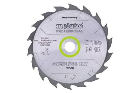 """Piła tarczowa """"cordless cut wood – professional"""", 165x20 Z36 WZ 15° (628295000)"""