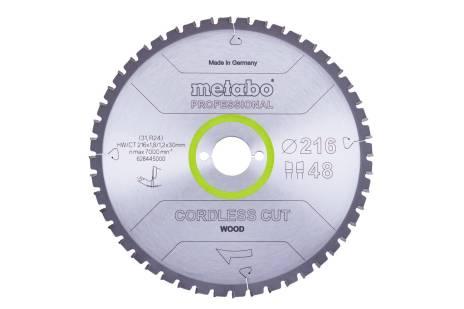 """Piła tarczowa """"cordless cut wood – professional"""", 216x30 Z28 WZ 5°ujemn. (628444000)"""