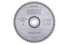 """Piła tarczowa """"multi cut – professional"""", 235x30, Z60 FZ/TZ 5° (628495000)"""