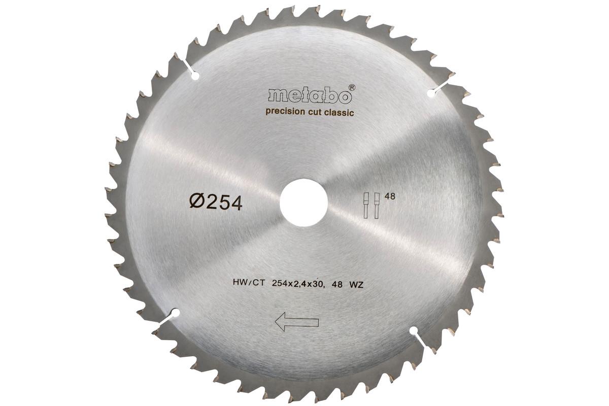 Пильный диск HW/CT 254x30, 48, сменный зуб, 5° отр., classic (628061000)