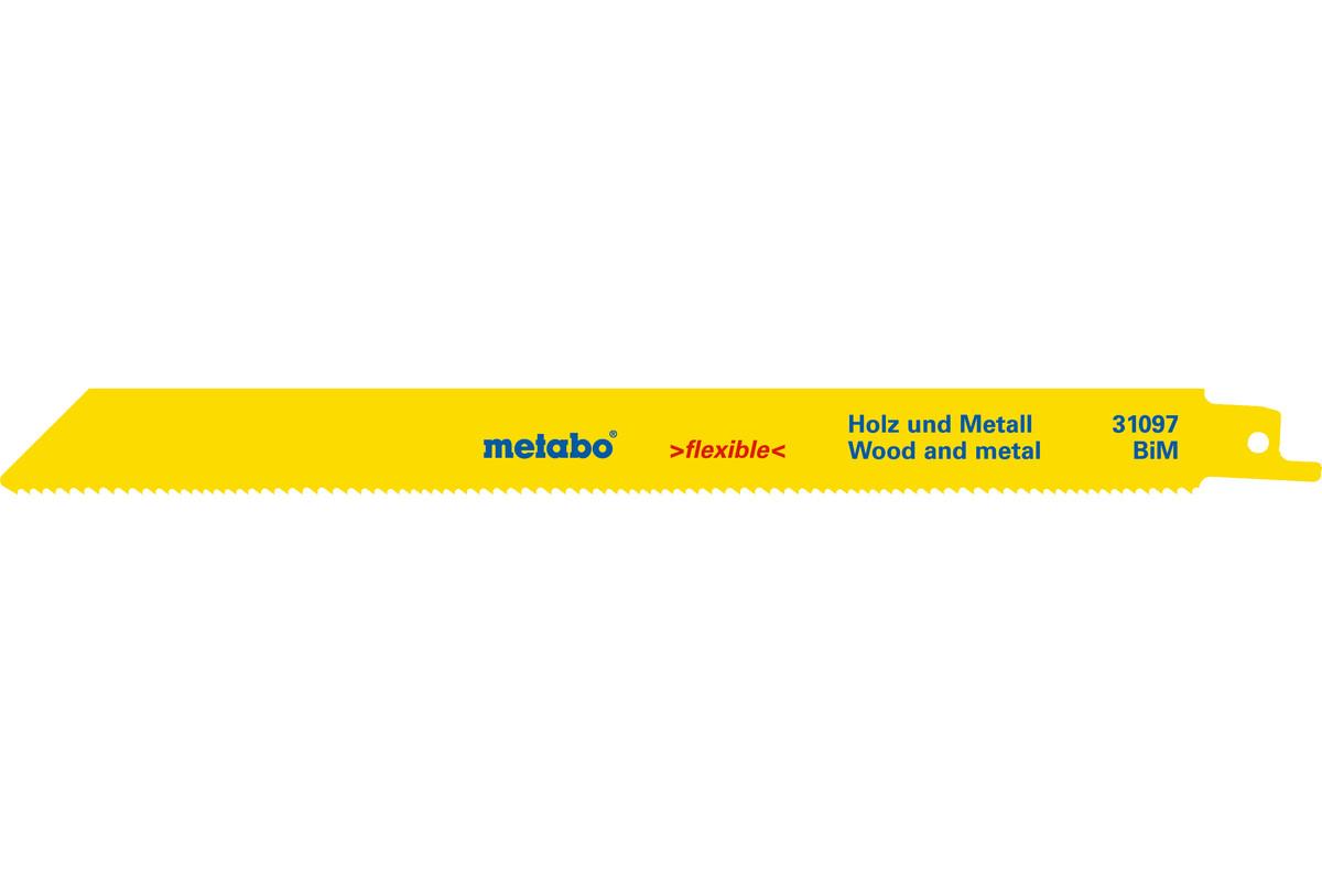 2 пильных полотна для сабельной пилы, H+M, flexible, 225x0,9 мм (631097000)
