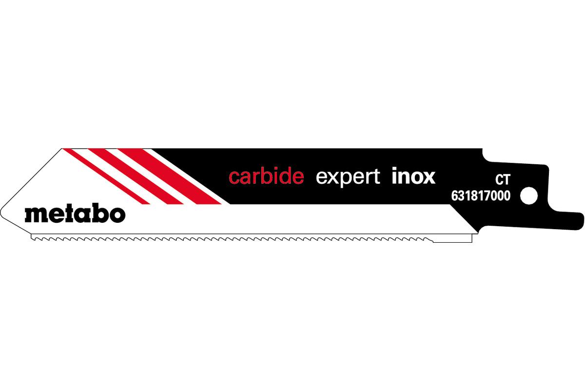 2 пильных полотна для сабельной пилы, Inox, expert, 115х 1,25 мм (631817000)