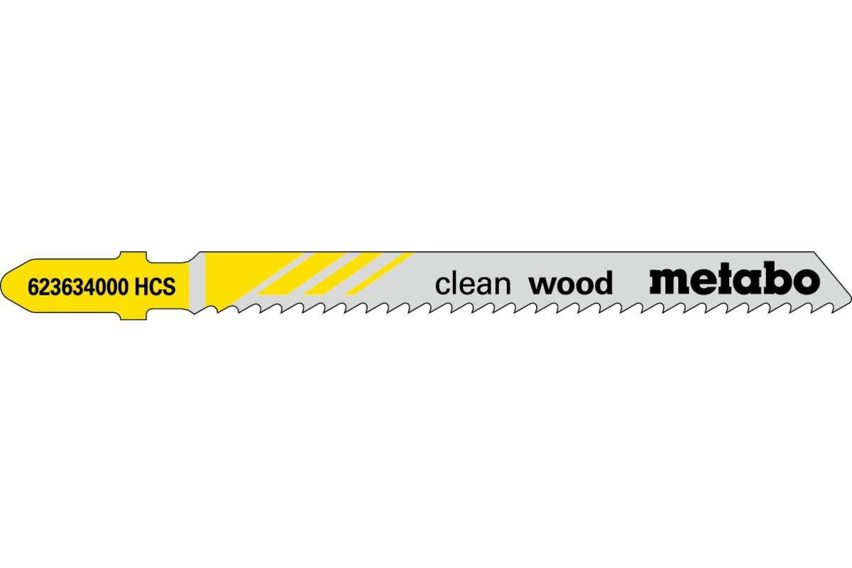 100 лобзиковых пилок, серия «clean wood», 74/ 2,5мм (623703000)