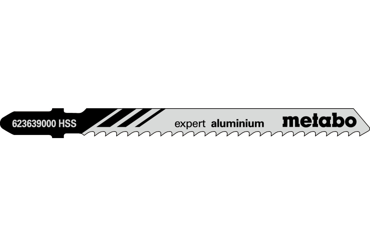 5 лобзиковых пилок, серия «expert aluminium», 74/ 3,0мм (623639000)