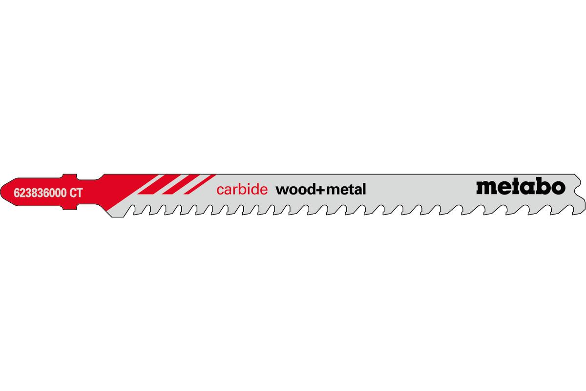 3 лобзиковые пилки, серия «carbide wood + metal», 108/3,5–5мм (623836000)