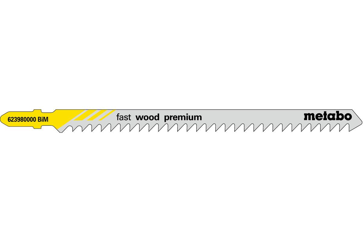 5 лобзиковых пилок, серия «fast wood premium», 126/ 4,0мм (623980000)