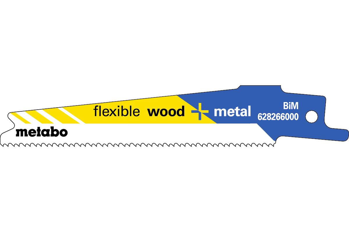 5 пилок для сабельных пил, «flexible wood + metal», 100 x 0,9мм (628266000)