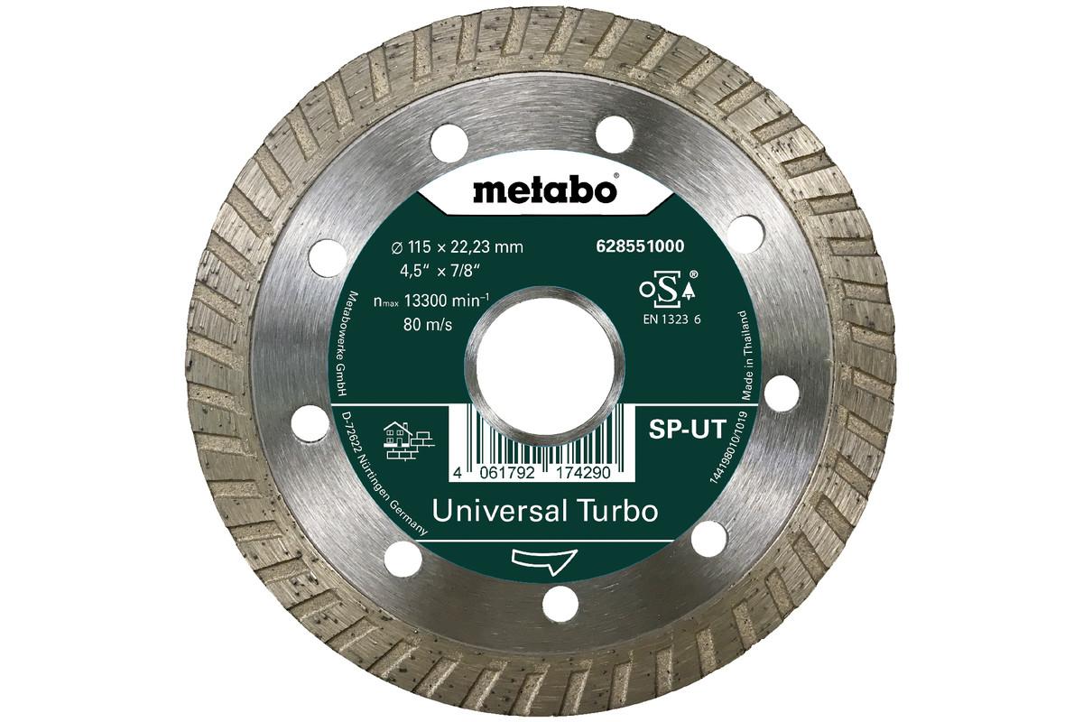 Алмазный отрезной круг 115x22,23мм, «SP-UT», универсальный Turbo «SP» (628551000)