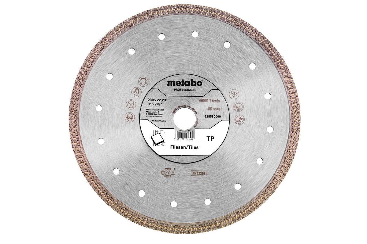 Алмазный отрезной круг 230x22,23мм, «TP», для плитки «professional» (628580000)