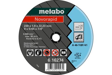 Novorapid 230 x 1,9 x 22,23, Inox, TF 41 (616274000)