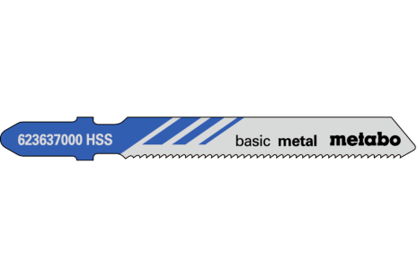 25 лобзиковых полотен, металл, classic, 51/ 1,2 мм (623692000)