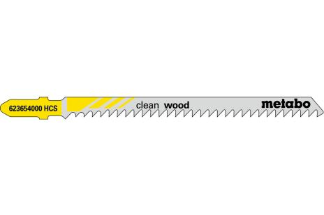 5 лобзиковых полотна, для дерева, profess. 91 мм / 3,0 (623654000)