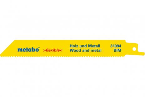 2 пильных полотна для сабельной пилы, H+M, flexible, 150x0,9 мм (631094000)
