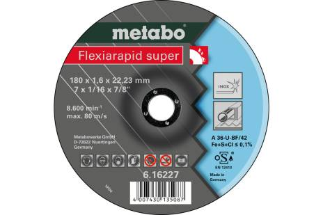 Flexiarapid super 180x1,6x22,23, Inox, TF 42 (616227000)