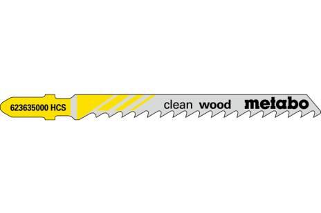 25 лобзиковых пилок, серия «clean wood», 74/ 4,0мм (623609000)