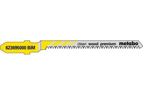 5 лобзиковых пилок, серия «clean wood premium», 57/ 1,4мм (623695000)
