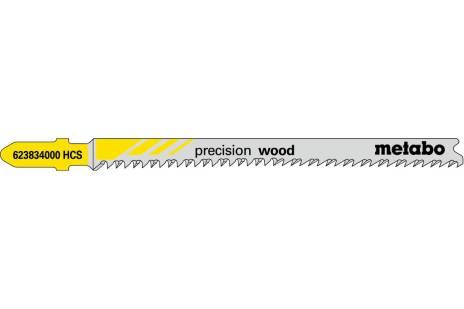 5 лобзиковых пилок, серия «precision wood», 91 2,2мм (623834000)