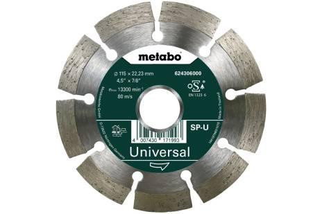 Алмазный отрезной круг 115x22,23мм, «SP-U», универсальный «SP» (624306000)