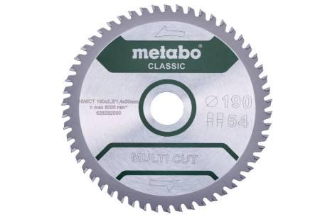 Пильное полотно «multi cut— classic», 190x30 Z54 FZ/TZ 5° /B (628663000)