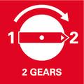 Двухскоростной редуктор    две скорости для эффективного сверления в дереве и металле.