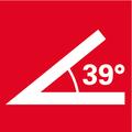 Угловая шлифмашина с плоской головкой   экстремально плоской головкой редуктора для работ в острых углах до 39°