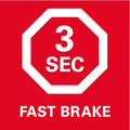 Тормоз двигателя    для моментального останова пильного диска в течение 3 секунд