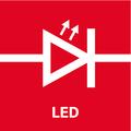 Светодиодная подсветка   высокая интенсивность освещения благодаря мощному светодиоду