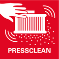 PressClean    ручная очистка фильтра сильным воздушным потоком активируется выключателем пылесоса