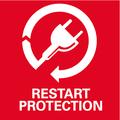 Защита от повторного пуска    предотвращает непреднамеренный запуск после прерывания электропитания