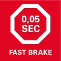 Запатентованная система механической мгновенной остановки ножа    за 0,05 секунды для максимальной безопасности