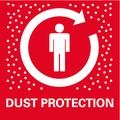Оптимальная защита от пыли    для чистой и комфортной работы: обеспечивает быстрое и эффективное вытяжение пыли и опилок