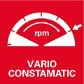 Vario-Constamatic (VC) - полноволновая электроника    обеспечивает управление числом оборотов в соответствии со свойствами материала и сохраняет его практически неизменным под нагрузкой