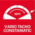 Vario-Tacho-Constamatic (VTC) - полноволновая электроника с регулировочным колесом    обеспечивает управление числом оборотов в соответствии со свойствами материала и сохраняет его неизменным под нагрузкой