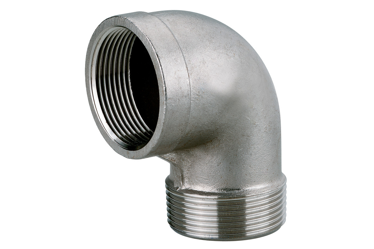 """Vinkelkoppling 1 1/2"""" rostfritt stål (0903064838)"""