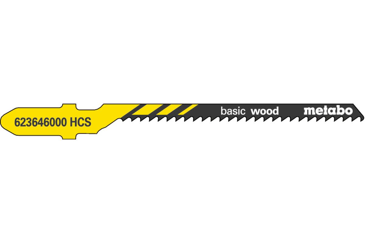 "5 sticksågblad ""basic wood"" 51/ 2,0 mm (623646000)"