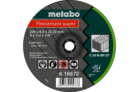 Flexiamant super 180x6,0x22,23 sten, SF 27 (616660000)