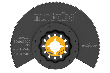 Segmentsågklinga, trä/metall, BiM, Ø85 mm (626960000)