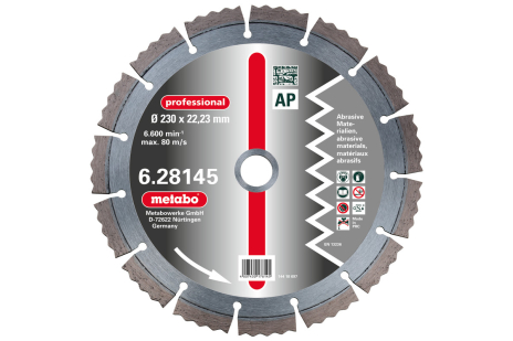 "Dia-KS, 230x2,5x22,23mm, ""professional"", ""AP"", abrasiv (628145000)"