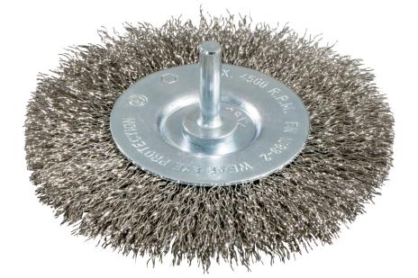 Rundborste 100x0,3 mm/ 6 mm, rostfritt stål, vågformat (630551000)