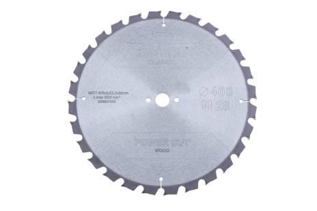 """Sågblad """"power cut wood - classic"""", 400x3,2/2,2x30 Z28 TZ 15° (628647000)"""