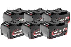 Sats 6 x Li-Power-batteripaket 18 V/5.2 Ah (625152000)