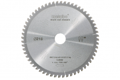 Cirkelsågklinga HW/CT 216x30, 60 FZ/TZ, 5° neg. (628066000)