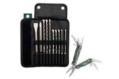 Hoprullbar väska med SDS-plus Pro 4-borr/mejsel, 10 delar, sats (631690000)
