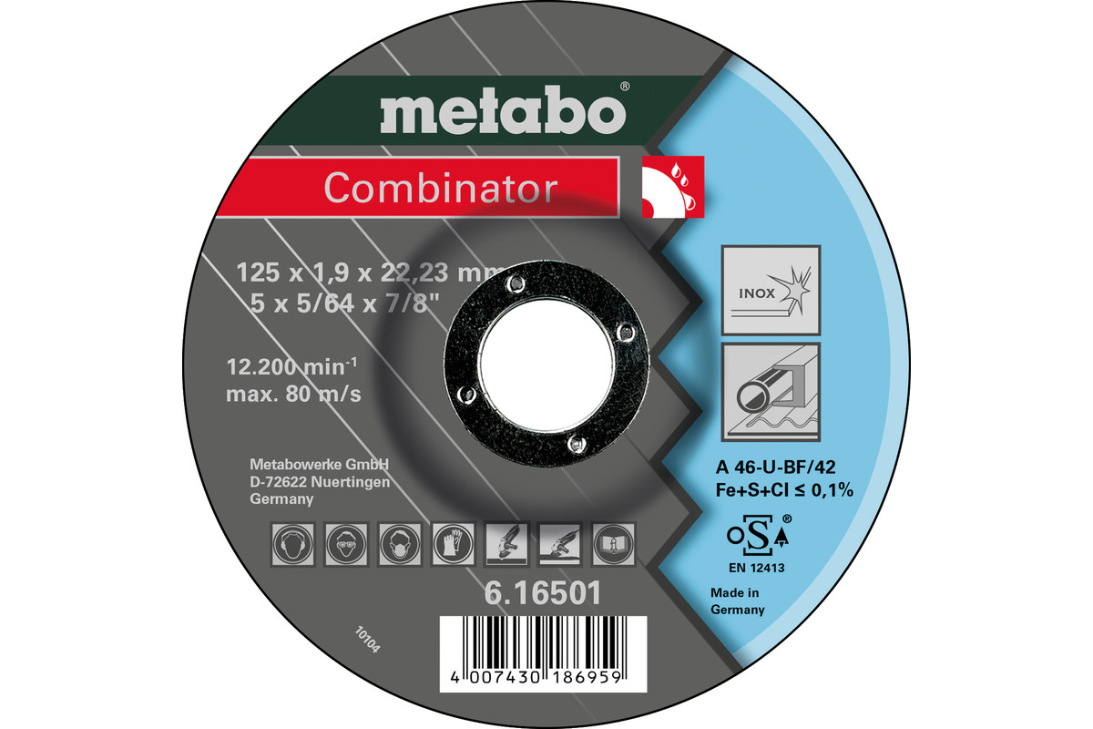 Combinator 125 x 1,9 x 22,23 Inox, TF 42 (616501000)