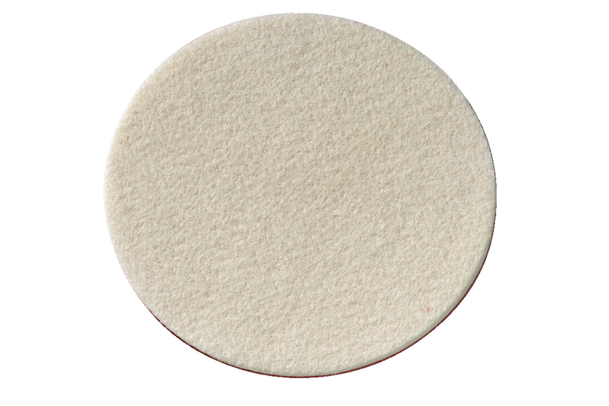 Samopritrdilna klobučevinasta plošča za poliranje mehka 130x5 mm (624964000)
