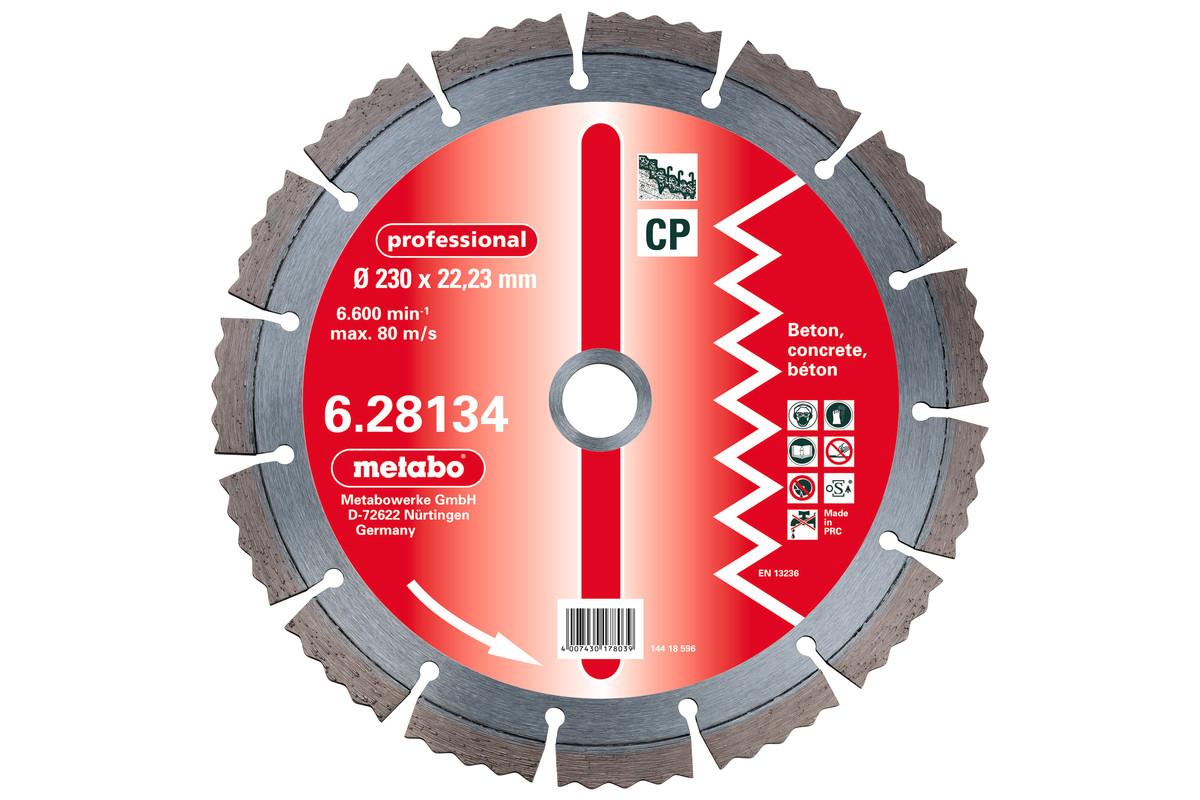 "Diamantna rezalna plošča, 115x2,15x22,23mm, ""professional"", ""CP"", beton (628129000)"