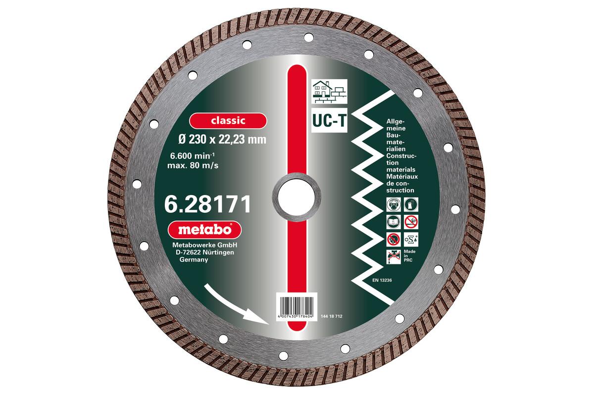 "Diamantna rezalna plošča, 115x2x22,23mm, ""classic"", ""UC-T"", Turbo, univerzalna (628167000)"