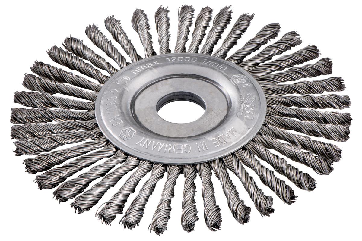 Okrogla ščetka 150x0,5x6 /22,23 mm, jeklo, pleteno (626816000)