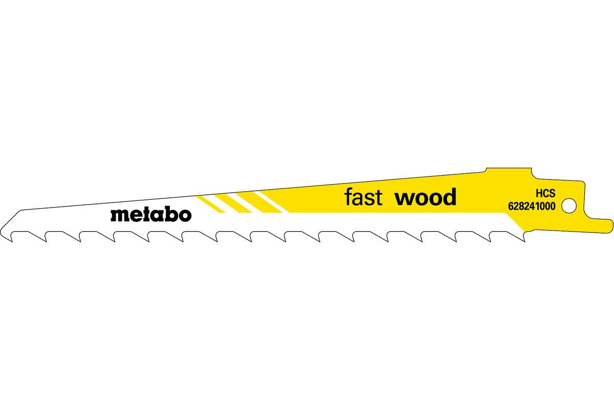 "5 listov večnamenske sabljaste žage ""fast wood"" 150 x 1,25 mm (628241000)"